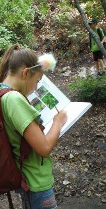 Upper elementary children explore Nature after school at Weinberg Nature Center!