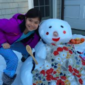 Girl and Snowman (jpg)