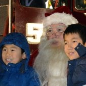 Children with Santa by Fire Truck (jpg)