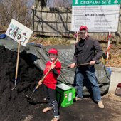 Father and Child Getting Free Compost (jpg)