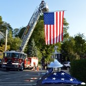 September 11 Ceremony - Fire Engine and Flags