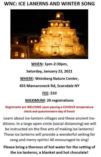 20201 Weinberg Nature Center ICE LANTERNS & WINTER SONGS