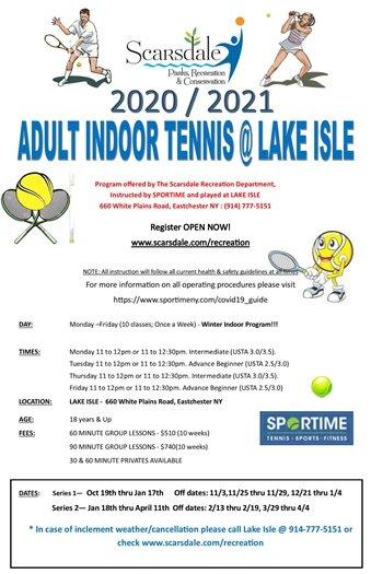 2020/2021 Adult Indoor Lessons @ Lake Isle