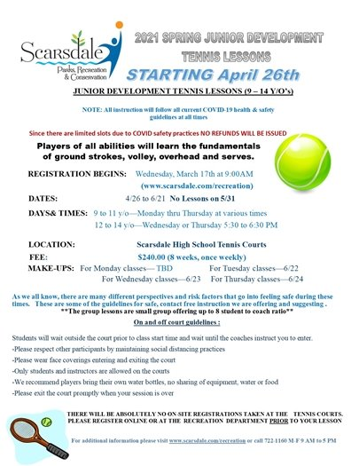 2021 Spring JR Development flyer