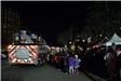 Boniface Circle Holiday Lights Attendees and Fire Truck