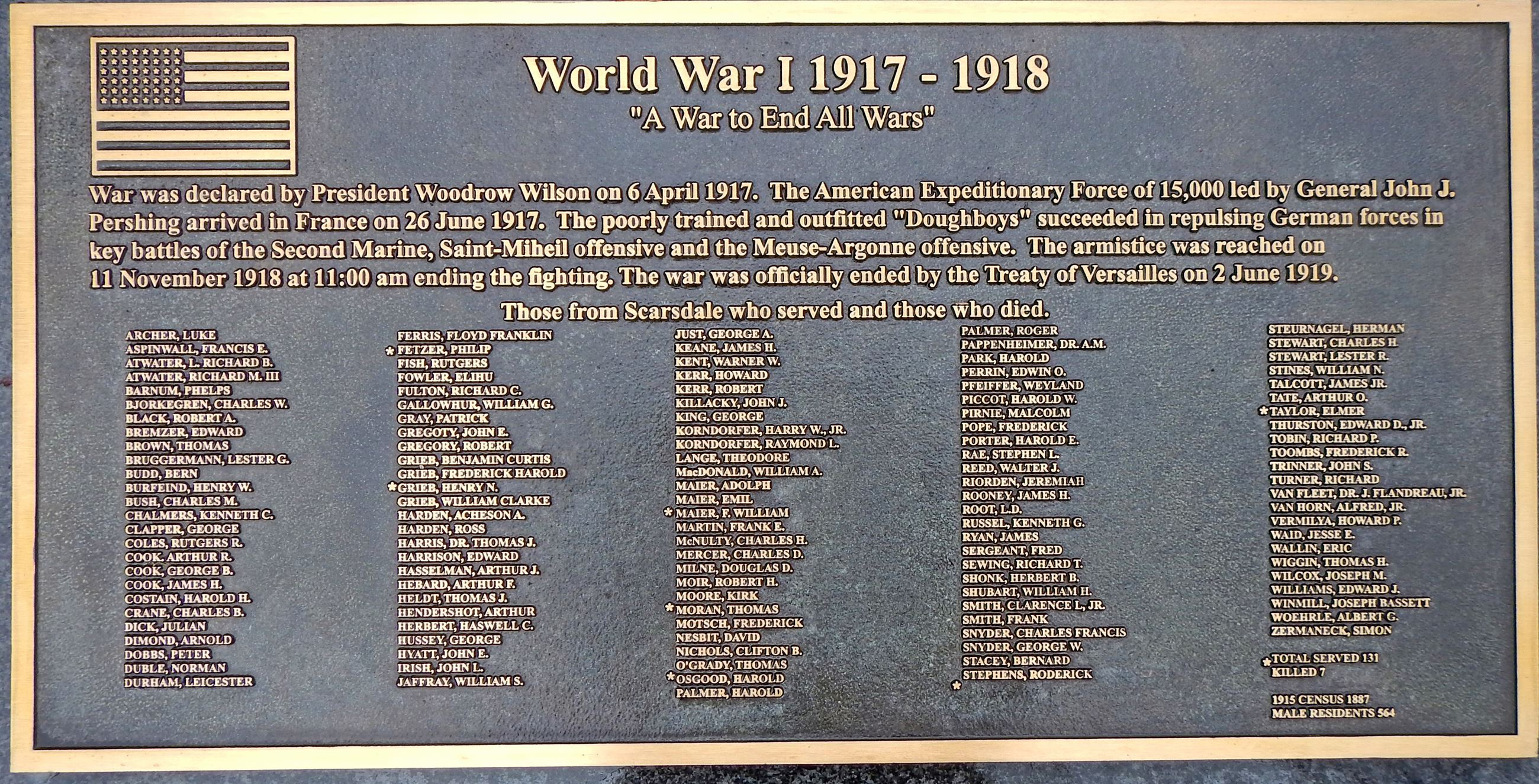 Memorial Garden Monument - WWI - End all Wars (jpg)