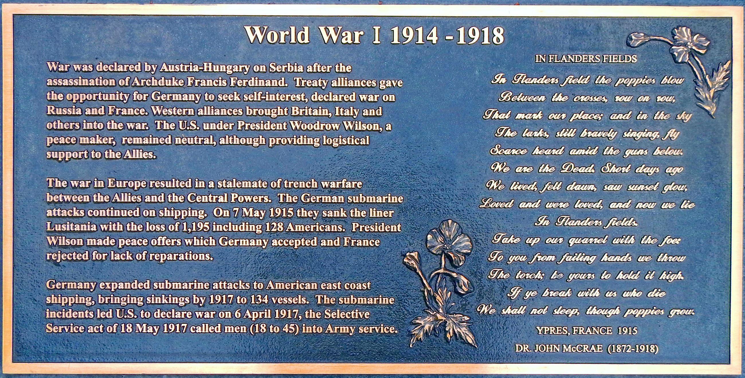 Memorial Garden Monument - WWI-Flanders (jpg)