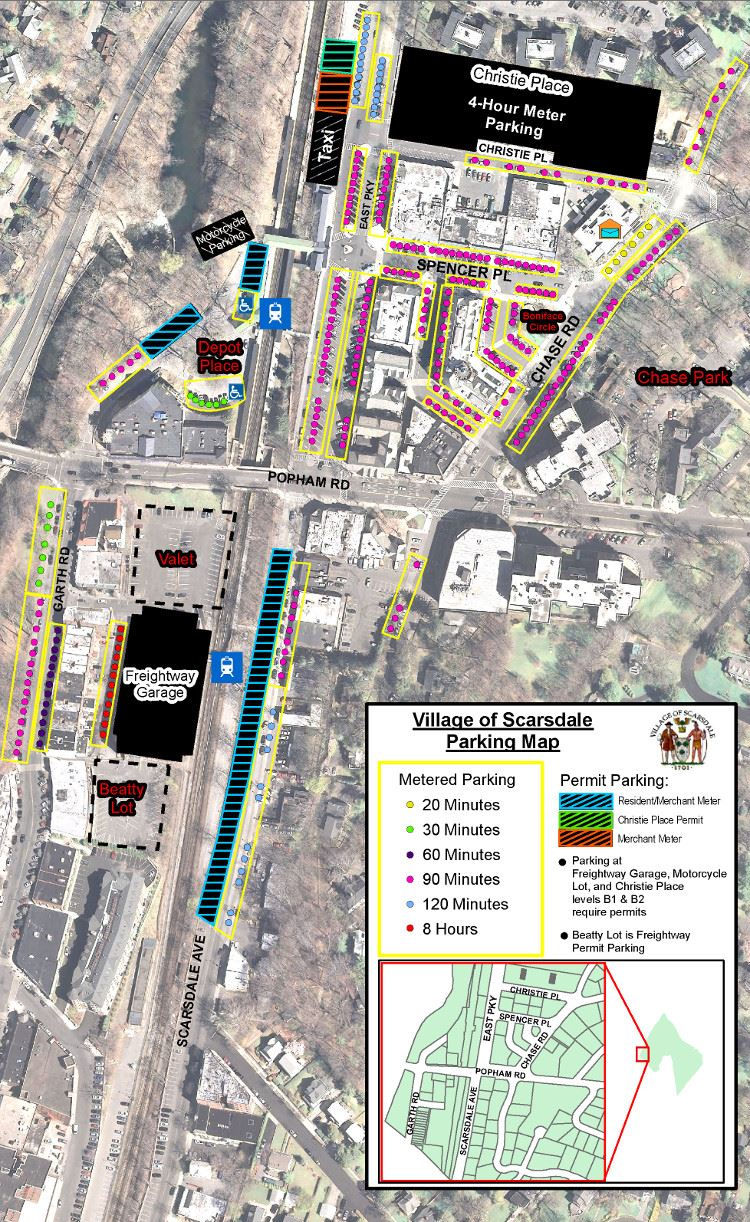 Village of Scarsdale Parking Map for 2016 thru 2017