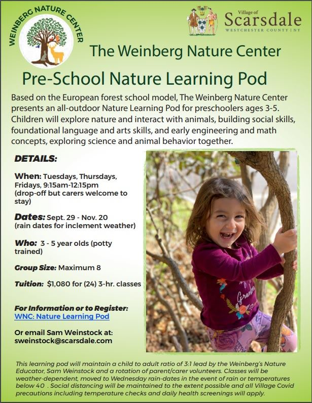 FLYER NATURE LEARNING POD Weinberg_Nature_center