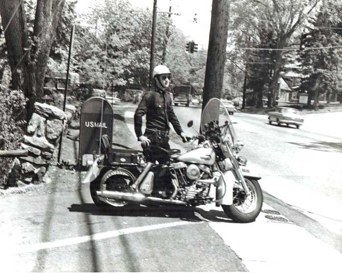 1961 Police Motorcycle with Police Officer